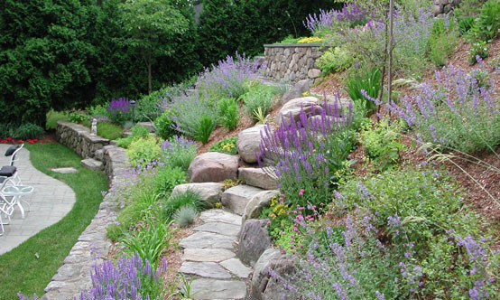 How to plant on a slope for Hillside rock garden designs